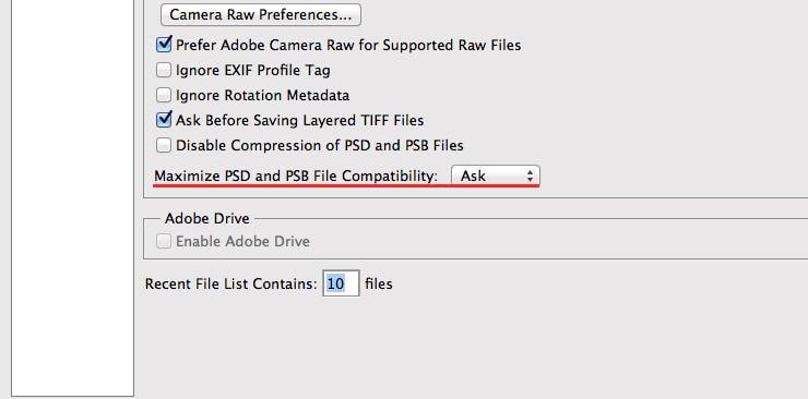 Устанавливаем максимальную совместимость файлов