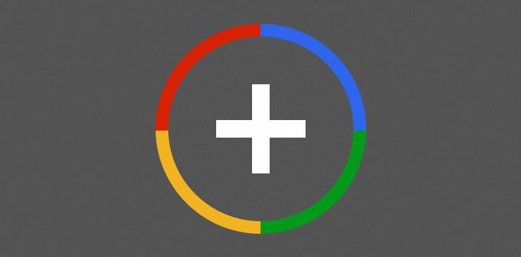Иконка Google плюс в фотошопе