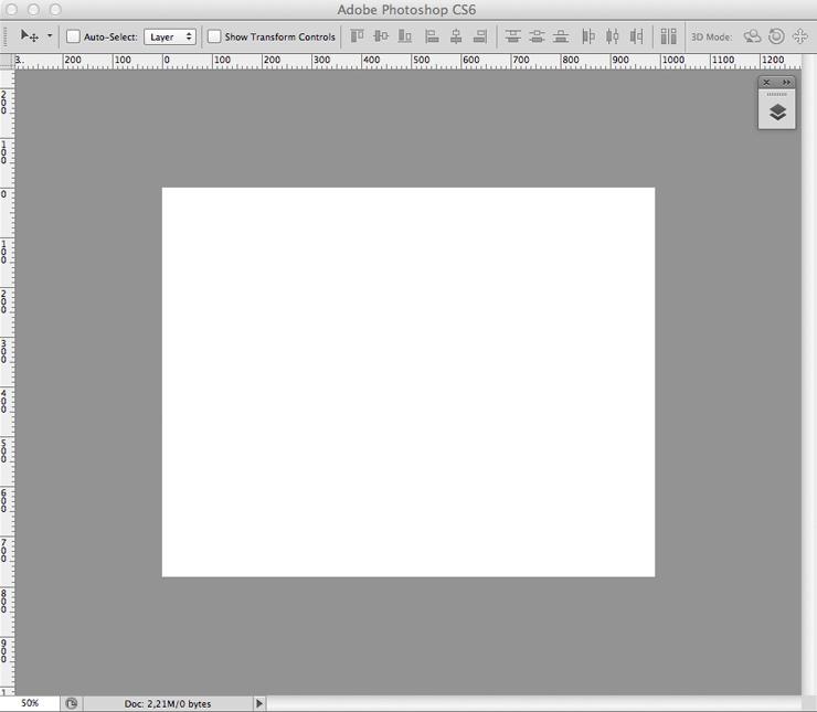 Настроенный интерфейс фотошопа