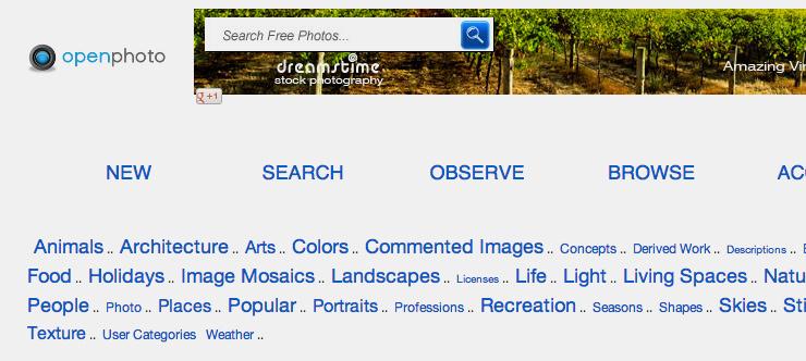 Бесплатный фотосток Openphoto