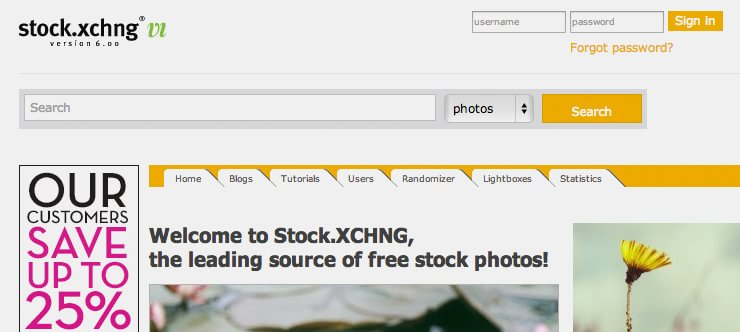 Бесплатный фотосток Stock xchng