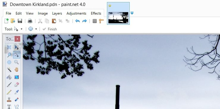 Бесплатный аналог фотошопа PaintNET