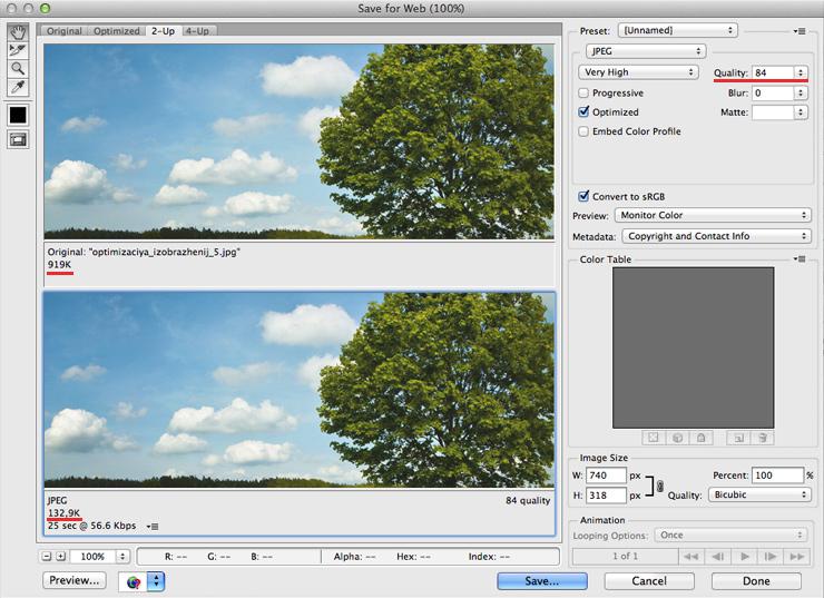 Схема оптимизации изображений 3