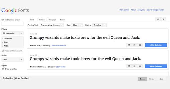 Google WebFonts